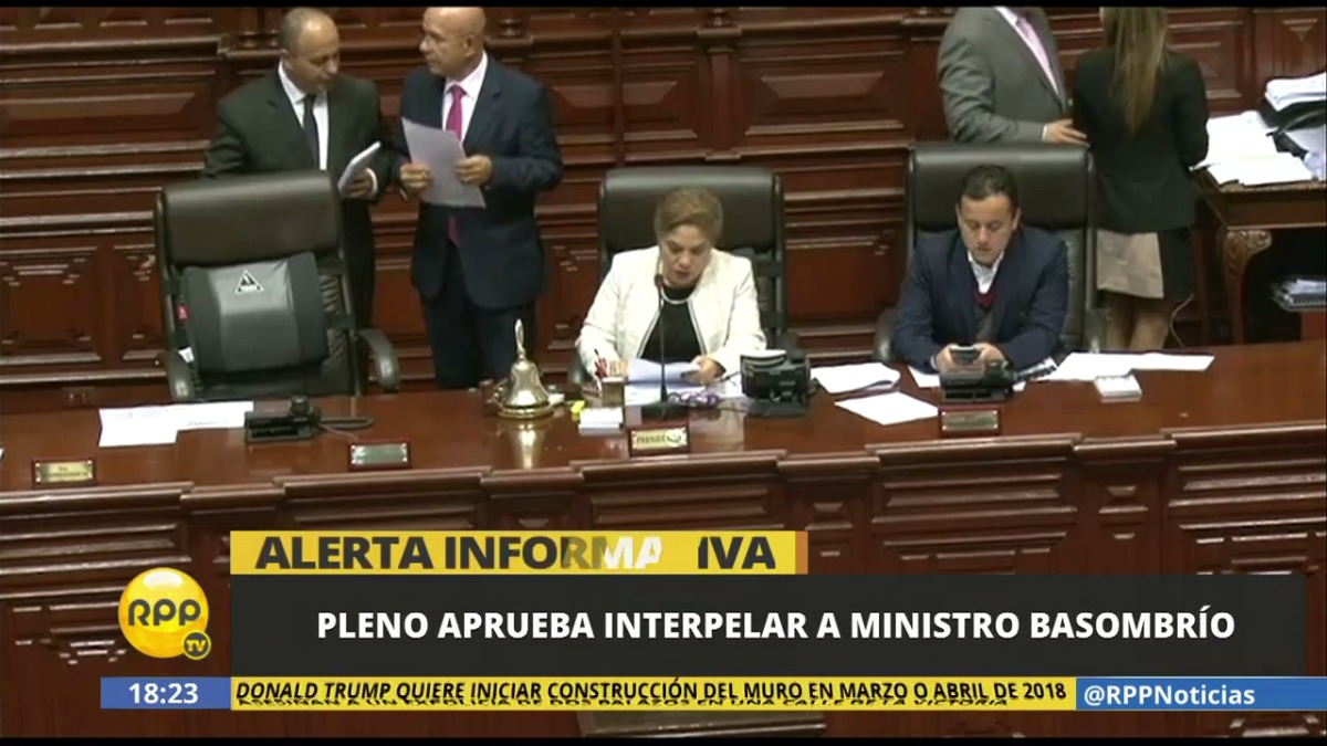 La votación que decidió la interpelación a Basombrío.