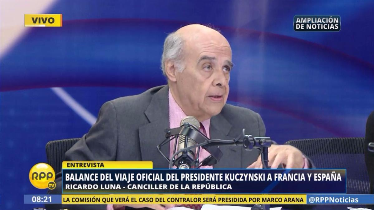 El canciller Ricardo Luna habló sobre el balance del viaje oficial del presidente Kuczynski a Francia y España