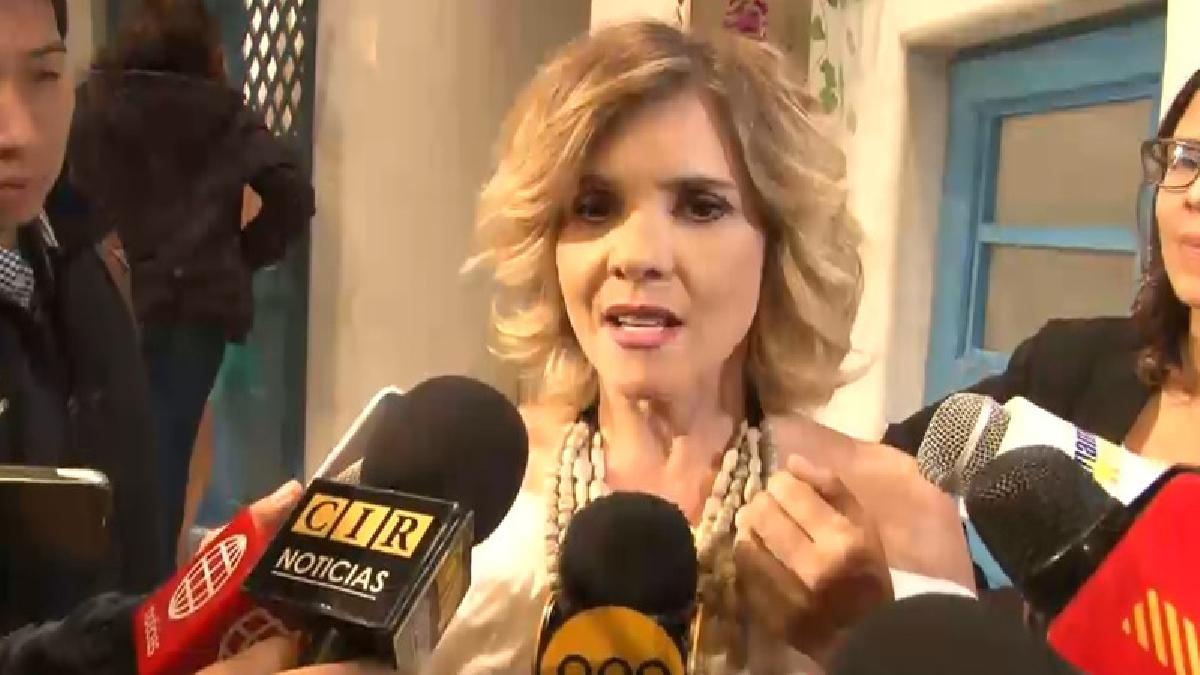 Johanna San Miguel en conferencia de prensa para el lanzamiento de la segunda temporada de 'Mamma Mía'.