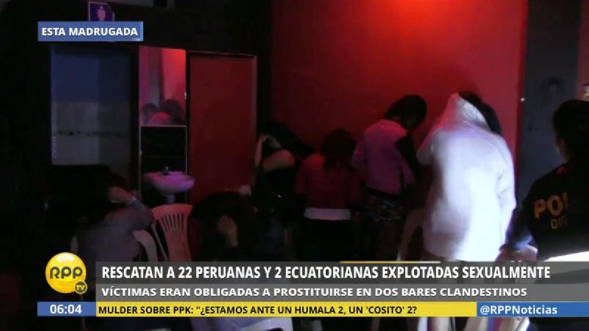 Esta madrugada la Policía intervino los bares 'Casa Blanca' y 'Tres Regiones', en Puente Piedra.