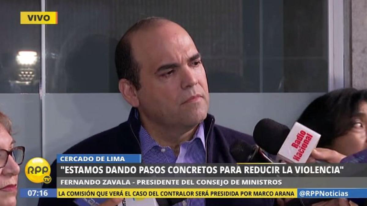 Fernando Zavala aseguró que el Gobierno ha fortalecido el Consejo Nacional de Seguridad Ciudadana.