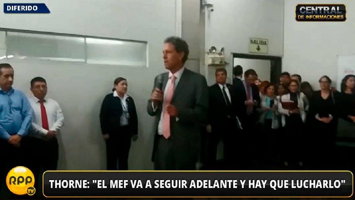 El Ministro Thorne pidió a los trabajadores del MEF