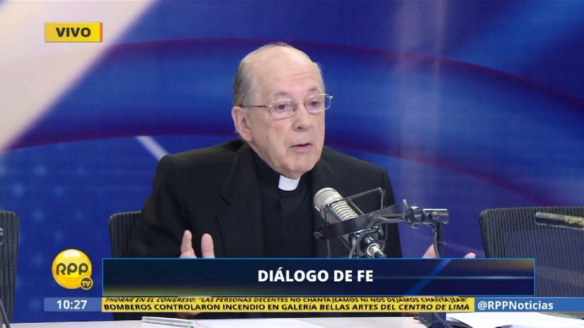 El cardenal Cipriani criticó que no se cuestione la legalidad del audio entre el contralor y el ministro Thorne.