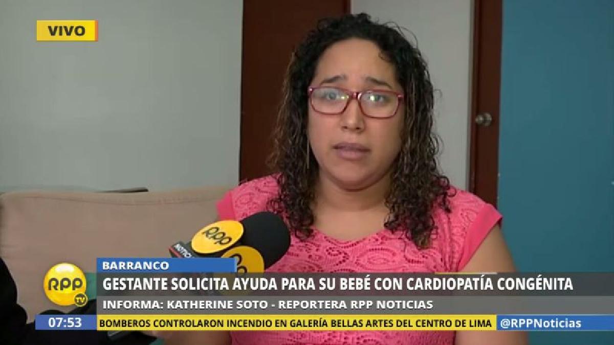 A través de RPP Noticias, Mariela López pidió ayuda para su bebé no nacida.