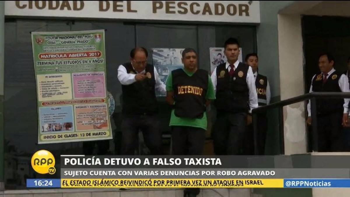 El hombre fue detenido y trasladado a la comisaría Ciudad del Pescador en Bellavista.