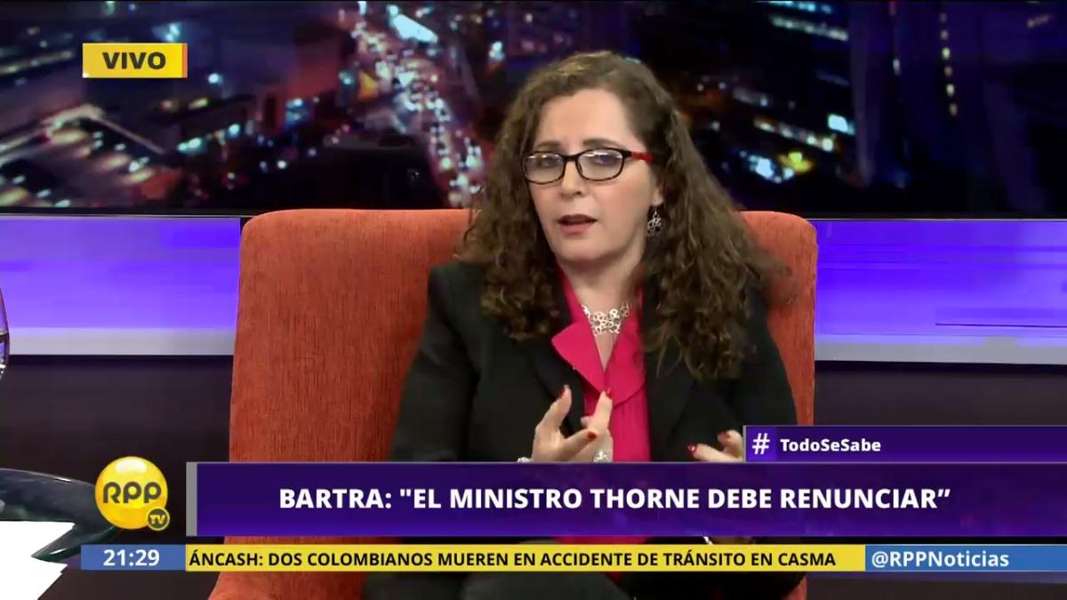 Rosa Bartra es parlamentaria de Fuerza Popular por la región La Libertad.