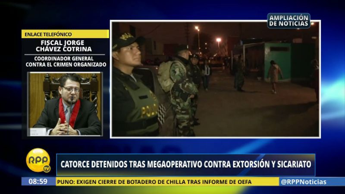 En el operativo, cayó Carlos Macdowell Villacorta, cabecilla de la banda 'Los Reyes de Puerto Chejo'.