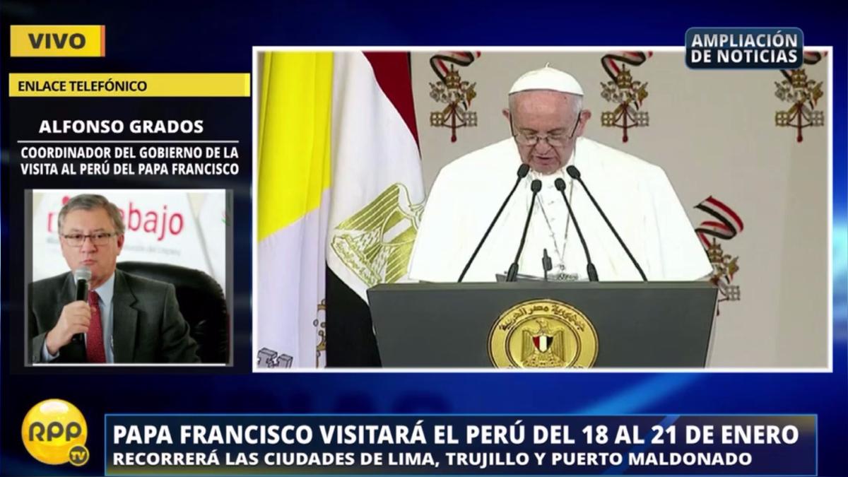 El papa Francisco visitará el Perú del 18 al 21 de enero.
