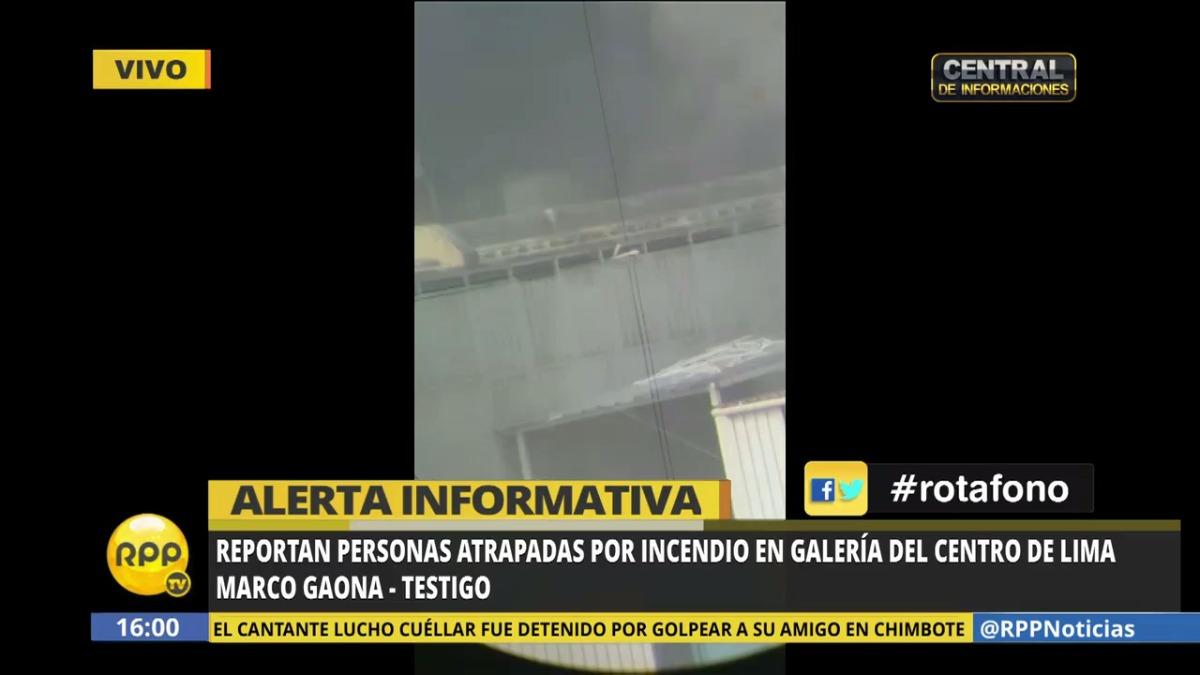 Marco Gaona reportó sobre las personas atrapadas a RPP Noticias.