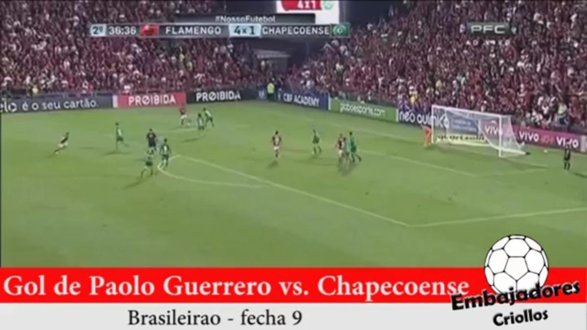 Este fue el último gol de Paolo y del Flamengo ante el Chapecoense.