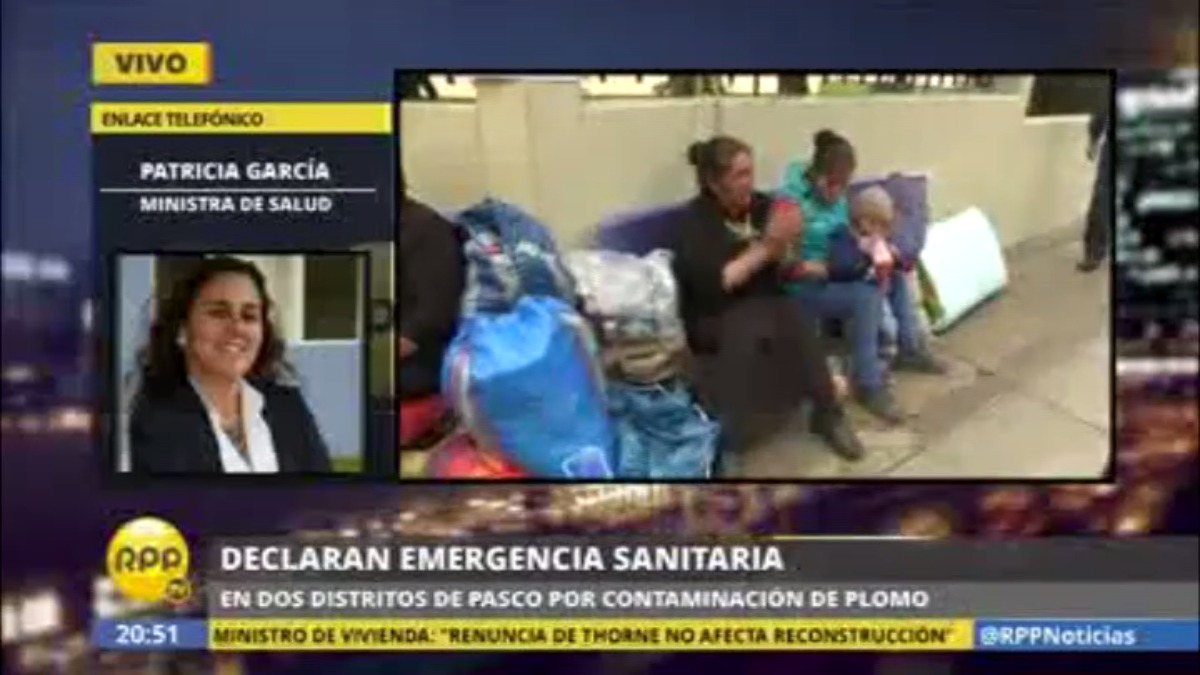 Patricia García dijo que su sector tiene financiamiento para el centro de salud especializado que se requiere en Pasco.