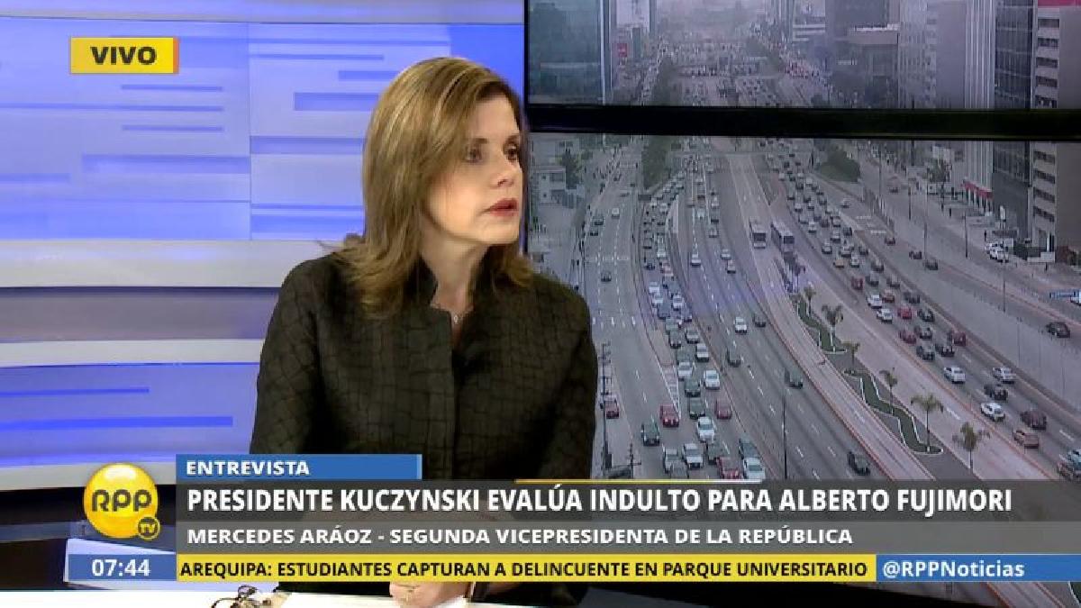 Mercedes Aráoz recordó que es potestad de Pedro Pablo Kuczynski indultar o no a Alberto Fujimori.