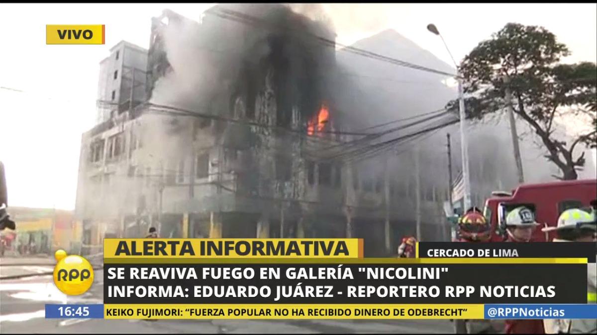Video | Nuevas explosiones reavivaron el fuego en galería Nicolini ...