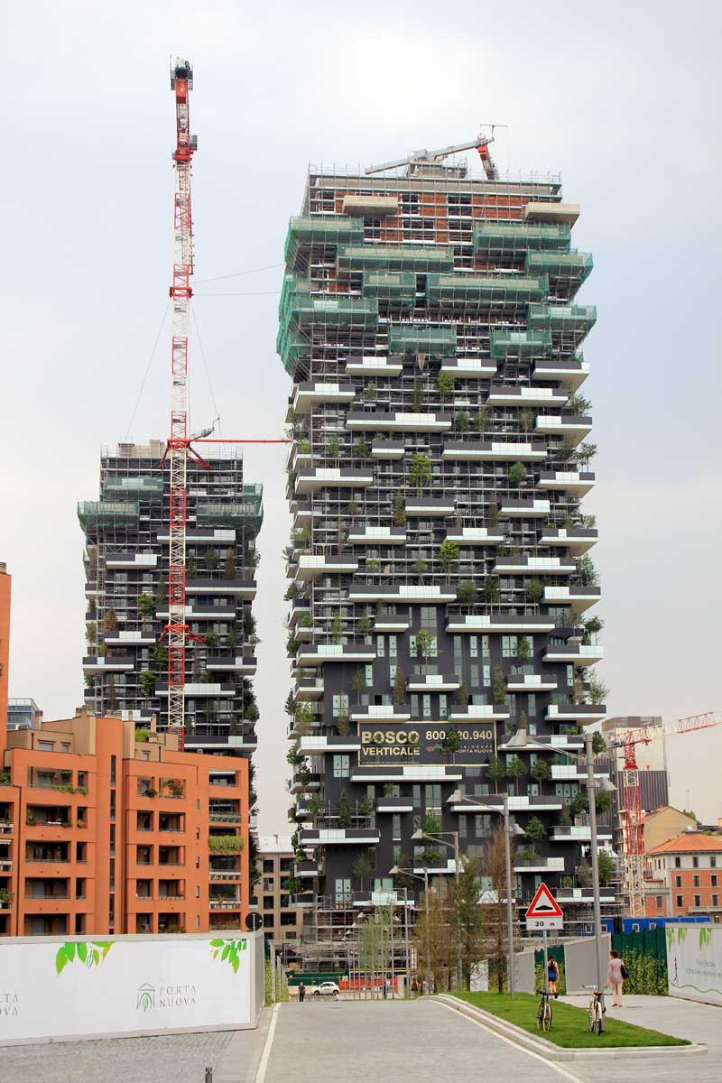 Así fue construido el primer bosque vertical del mundo.
