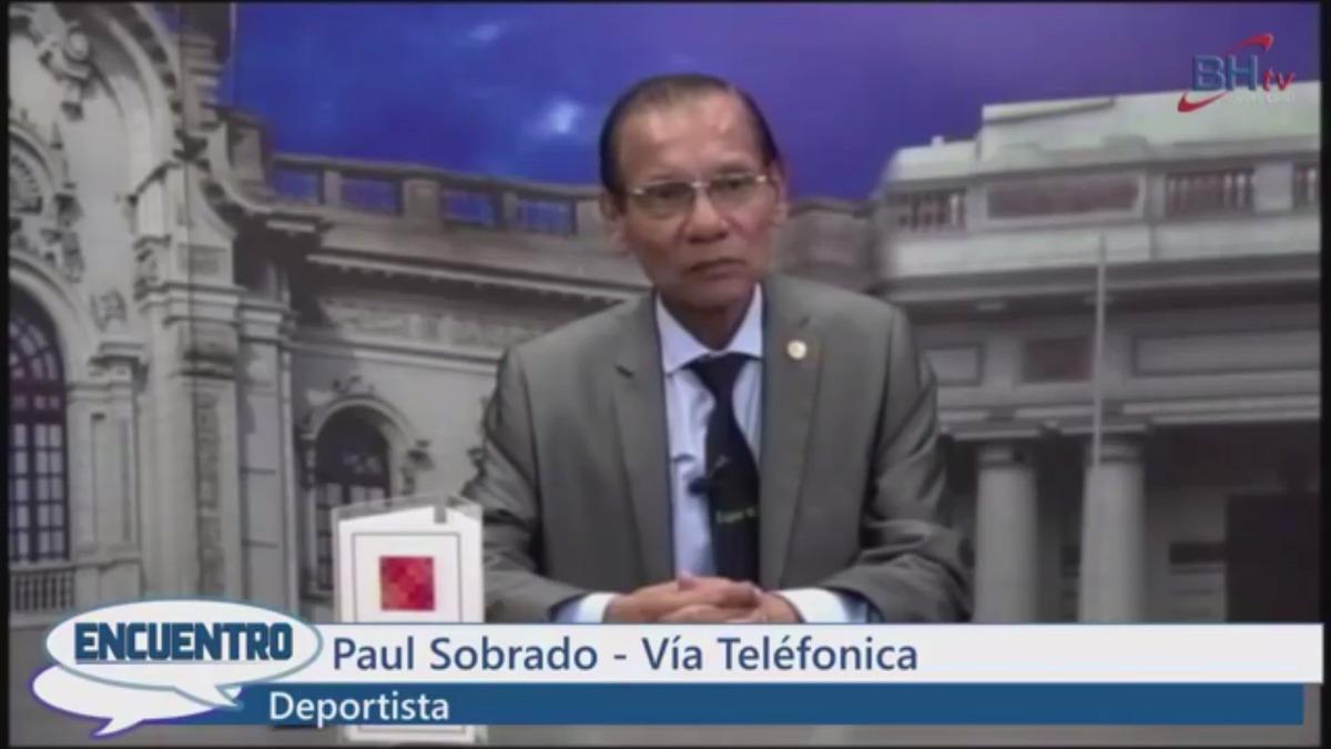 Paul Sobrado contando los hechos al programa Encuentro del canal 3 de Cable Más.