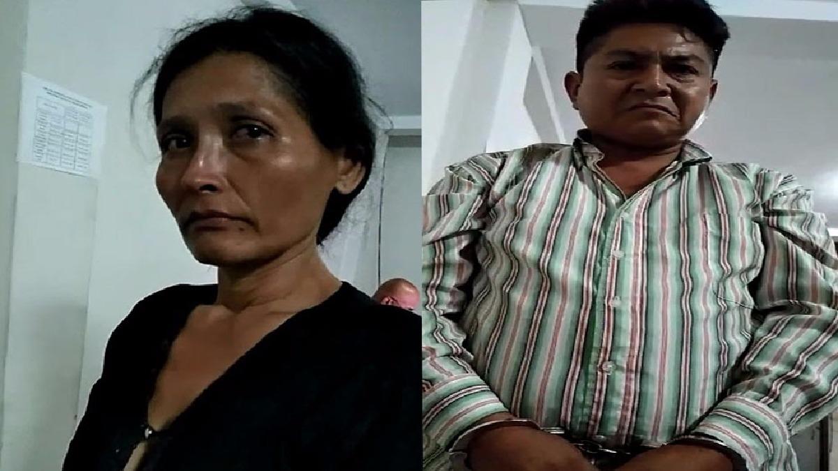 Pareja de esposos detenida en el Departamento Antidrogas.
