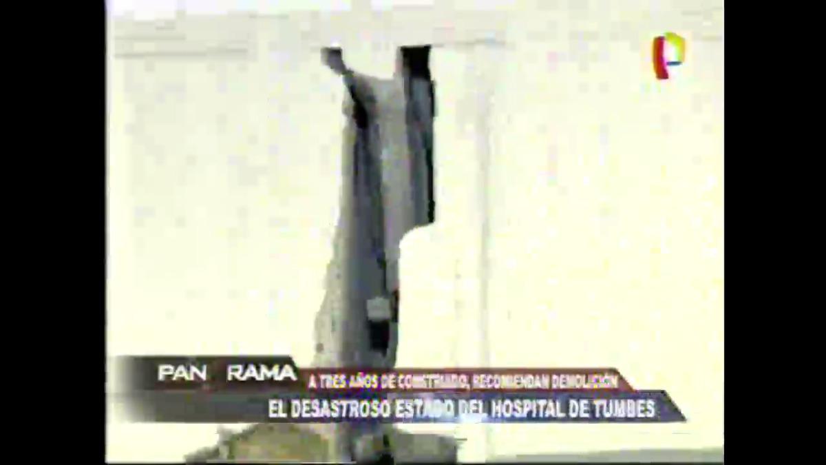 Así se encuentra el hospital de Tumbes.