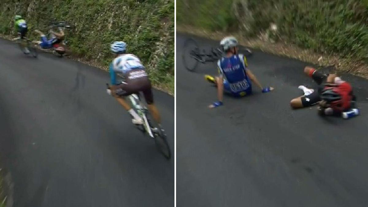 La dramática caída de Richie Porte en el Tour de Francia.