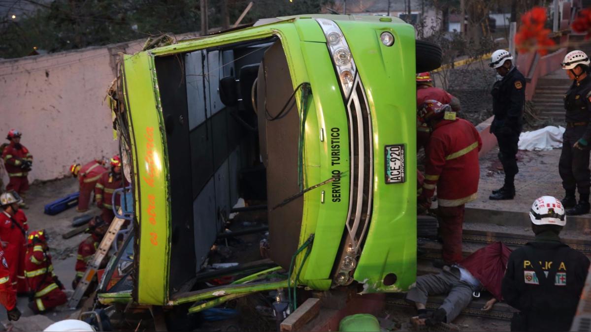 Diego Gutarra y Gustavo Guerra - García explican las causas del accidente.