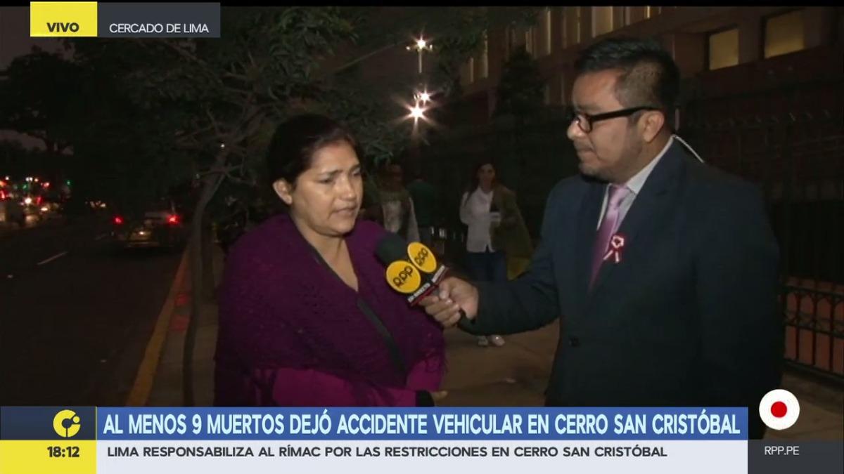 Nancy Espinoza asistió este lunes a la clínica Internacional.