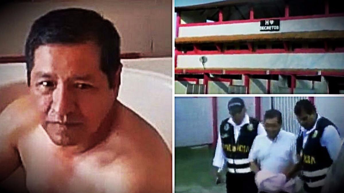 El funcionario Lisandro Lazo Pacheco fue detenido infraganti en el jacuzzi de un cuarto de hotel en Calleria, Pucallpa.