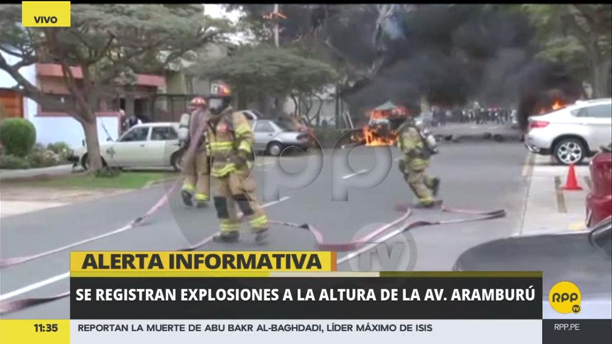 Así fue como RPP Noticias reportó la explosión.
