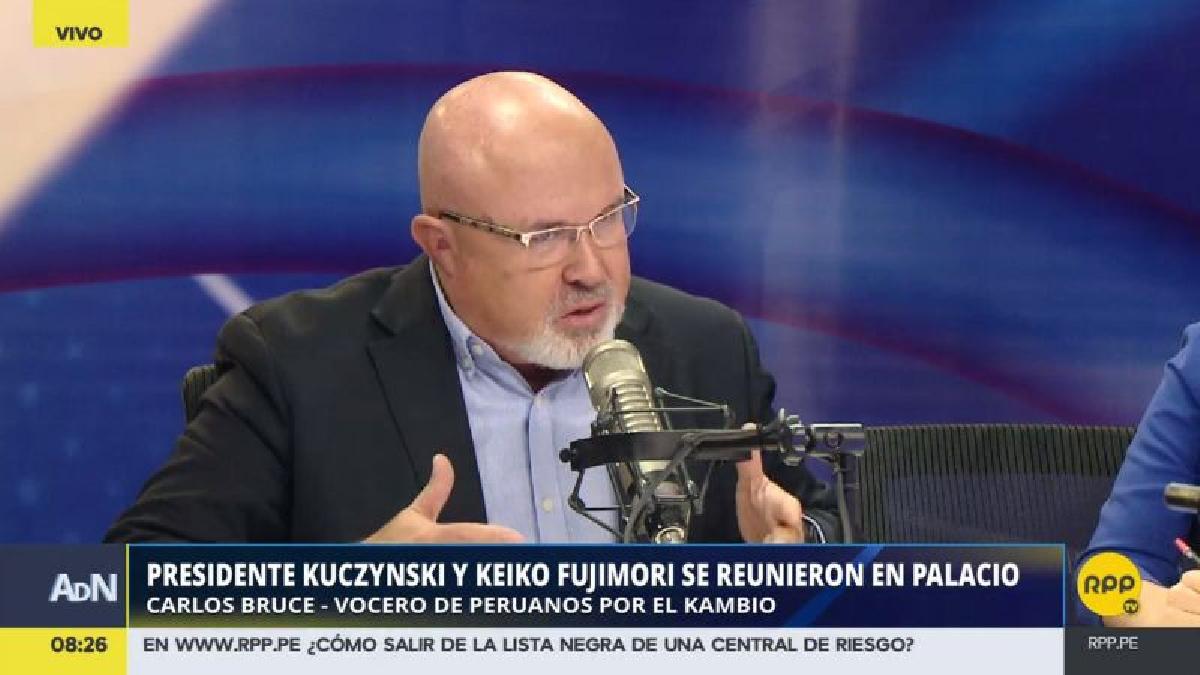 """Carlos Bruce rechazó que la reunión PPK-Keiko se traduzca en una suerte de """"cogobierno""""."""