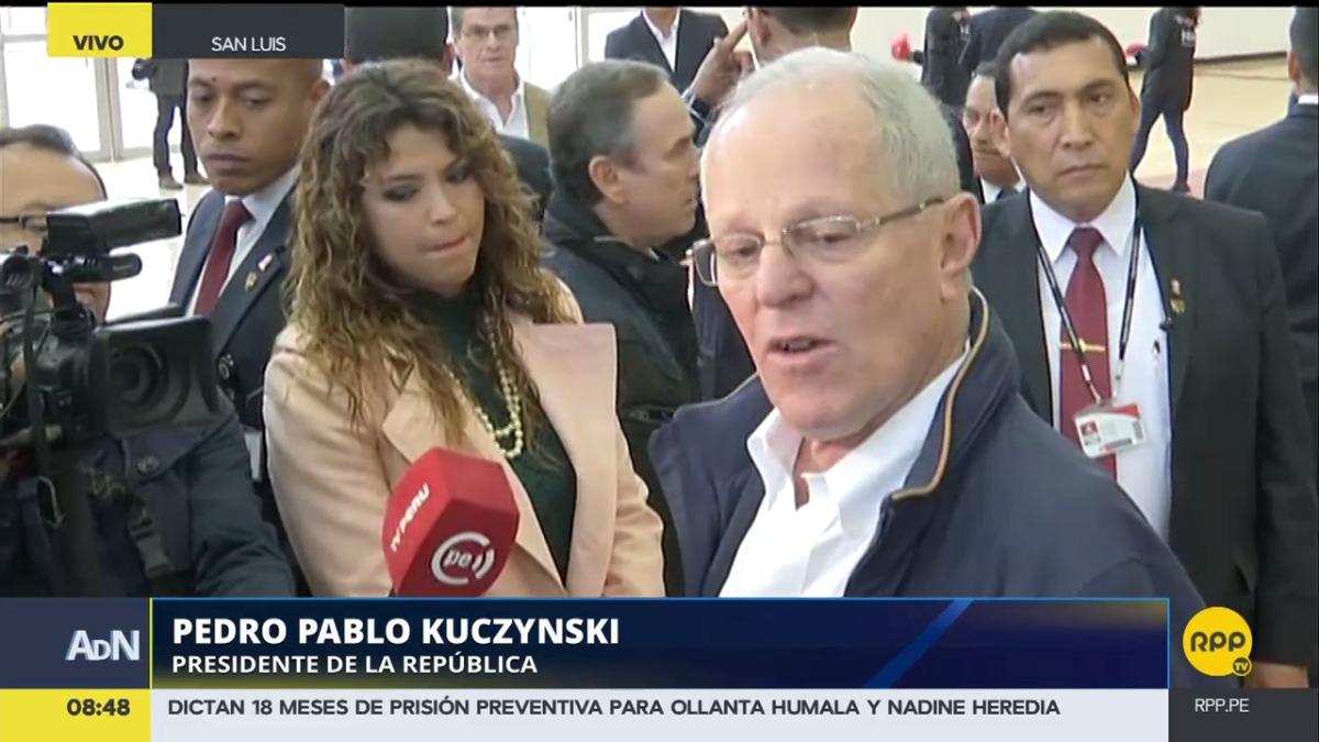 Kuczynski dijo que, pese a los casos más recientes de presunta corrupción, el Perú tiene una