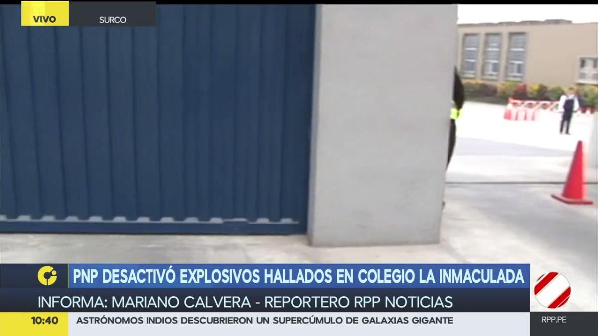 Autoridades del colegio dieron detalles sobre lo ocurrido.