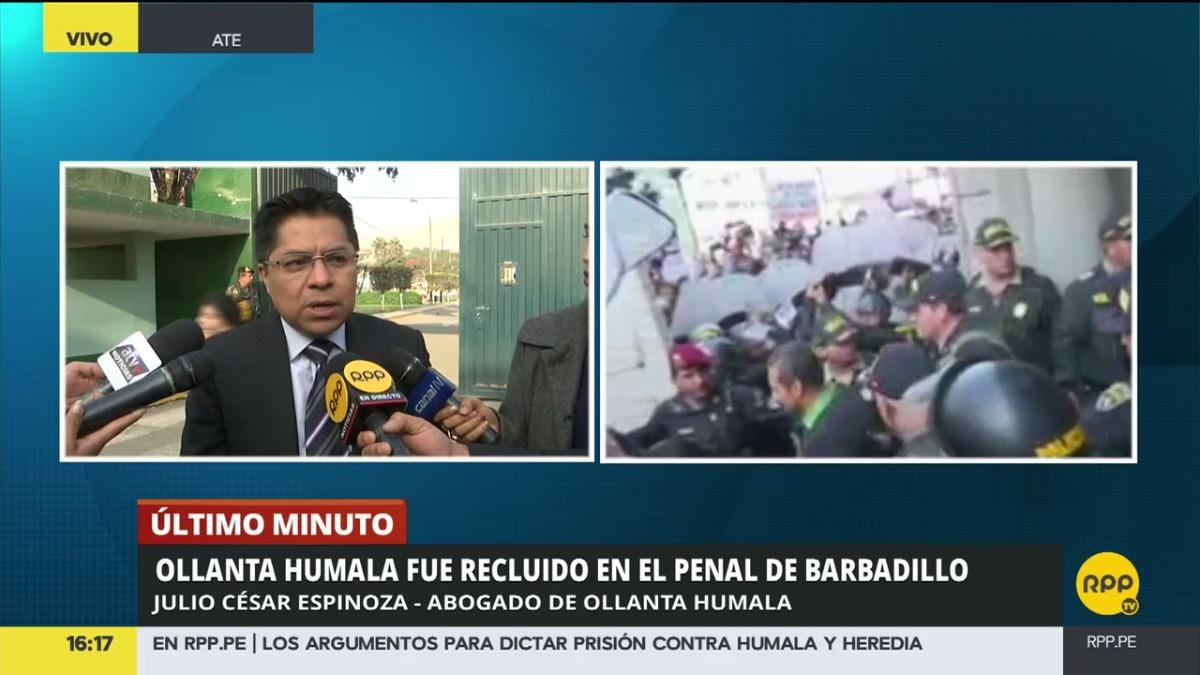 El defensor legal del expresidente criticó, además, los argumentos atendidos por el Poder Judicial para dictar la medida de prisión preventiva.