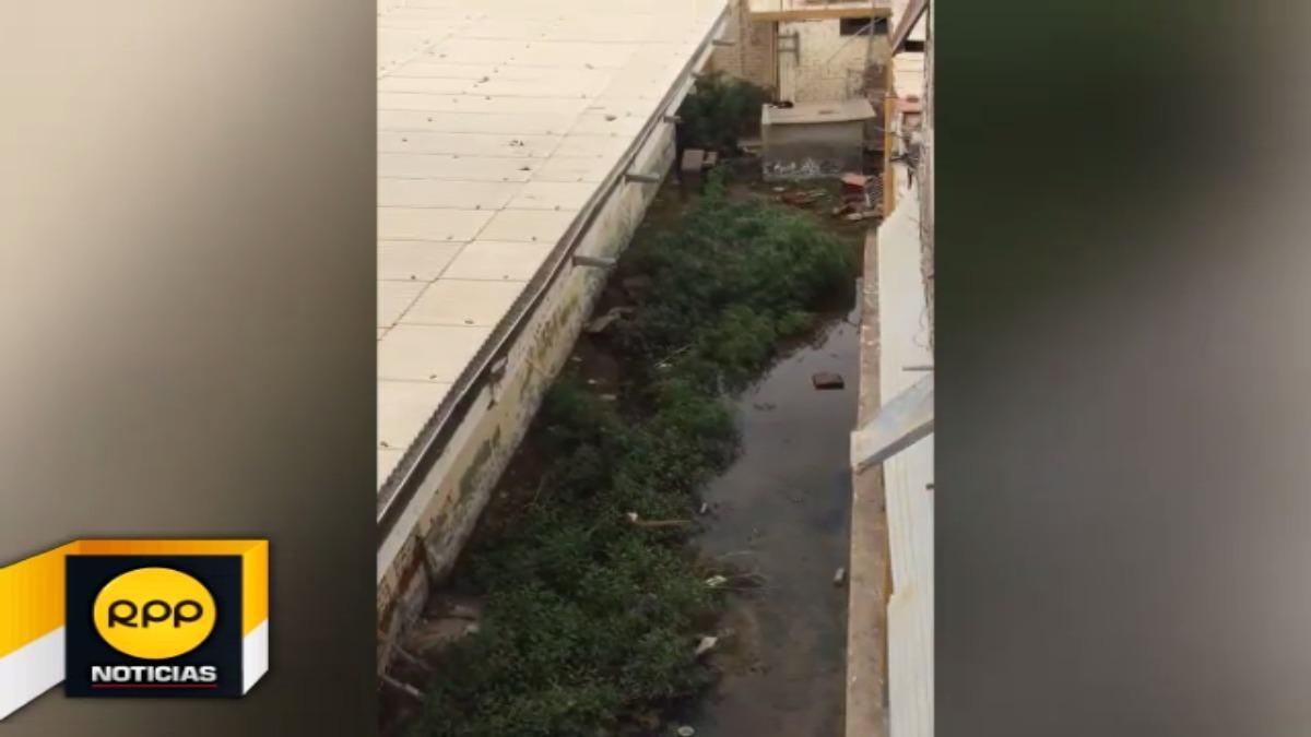 Vídeo muestra el agua empozada hace tres meses en la posta médica del distrito de Túcume.