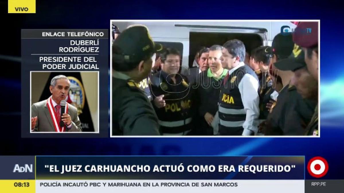 Duberlí Rodríguez aclaró que ni Ollanta Humala ni Nadine Heredia han sido condenados por algún delito.