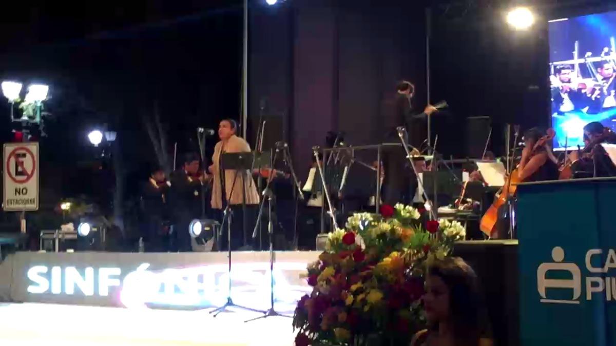 Una de las piezas del concierto.