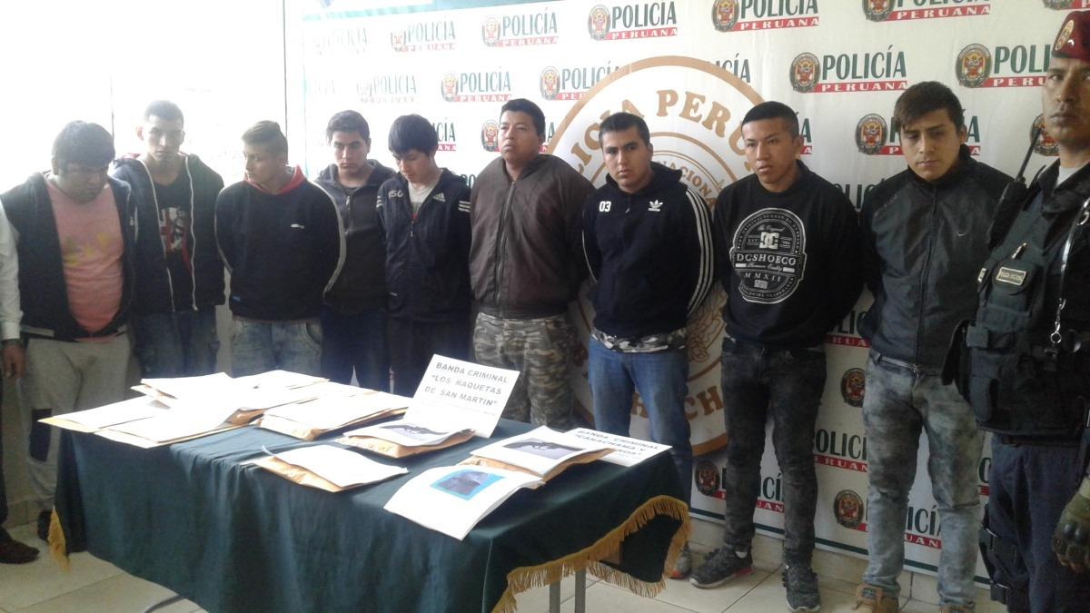 Tres bandas criminales fueron desarticuladas por la Policía Nacional en Huaral.