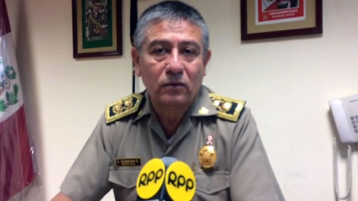 Director de la Cuarta Macro Región Policial de Loreto, general Lázaro Carrión Zuñiga.