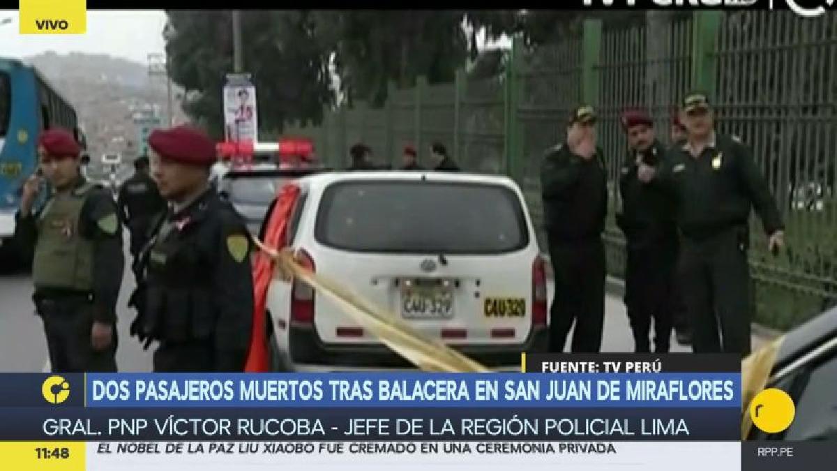 Los delincuentes atacaron a sus víctimas dentro de un colectivo informal en San Juan de Miraflores.