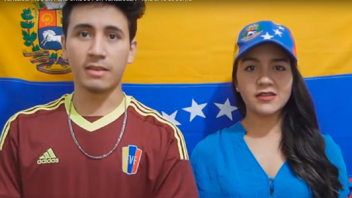 Dos jóvenes venezolanos dan sus razones para marcar tres veces Sí en el plebiscito.