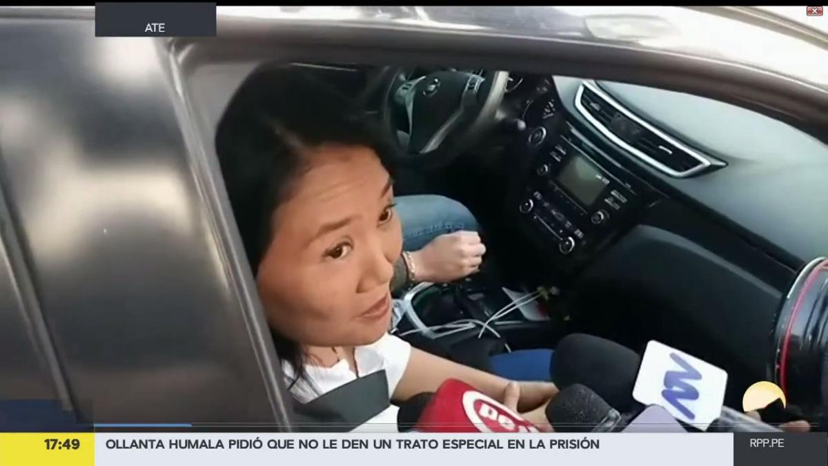 Keiko Fujimori pasó la mañana con su padre Alberto Fujimori.