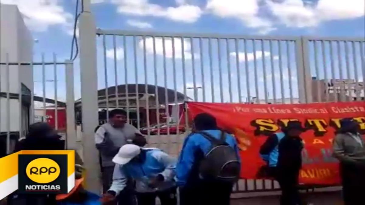 Profesores de la zona norte de la región participaron de protesta.