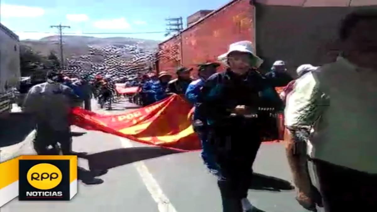 Dirigente de Sutep en la Oroya  anuncian que mañana se plegará a la huelga los trabajadores de la Doe Run