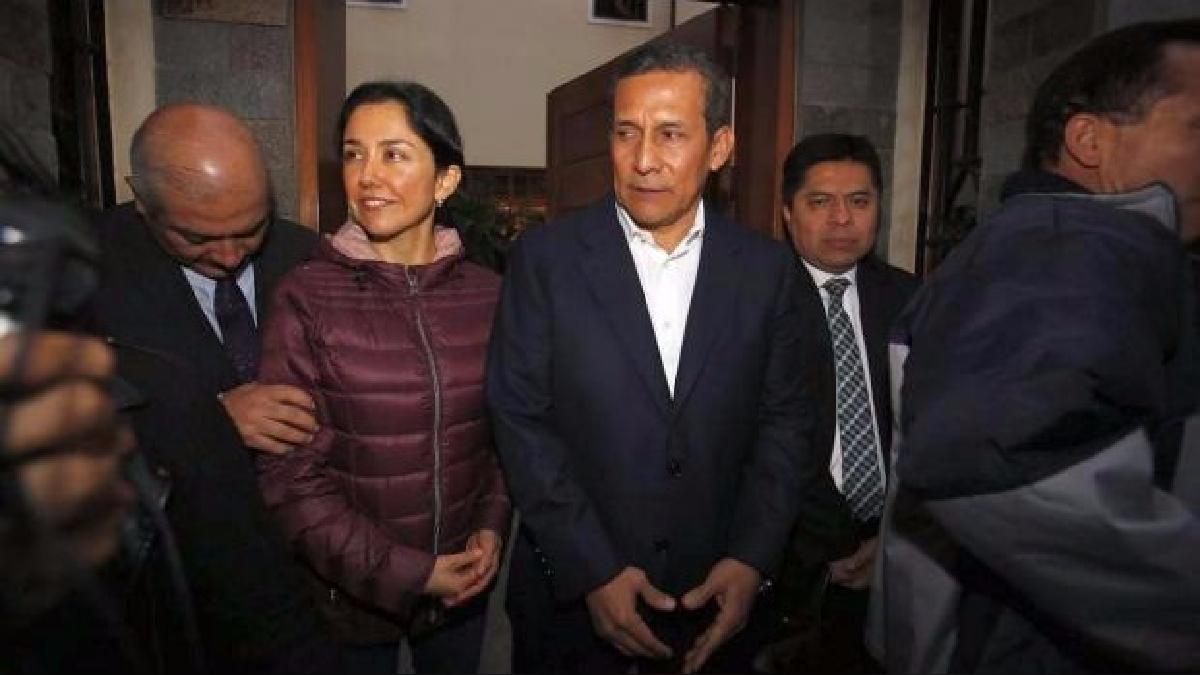 El expresidente Ollanta Humala y la ex primera dama Nadine Heredia declara nante la prensa un día antes del fallo de prisión preventiva.