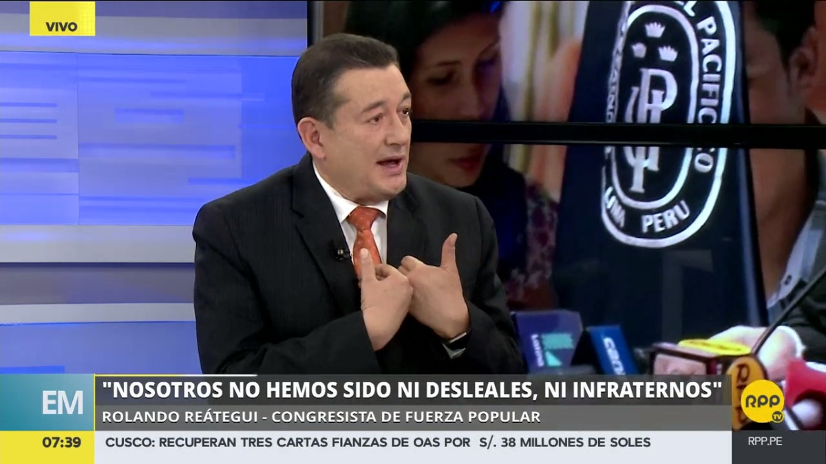 Rolando Reátegui no se considera desleal ni infraterno.