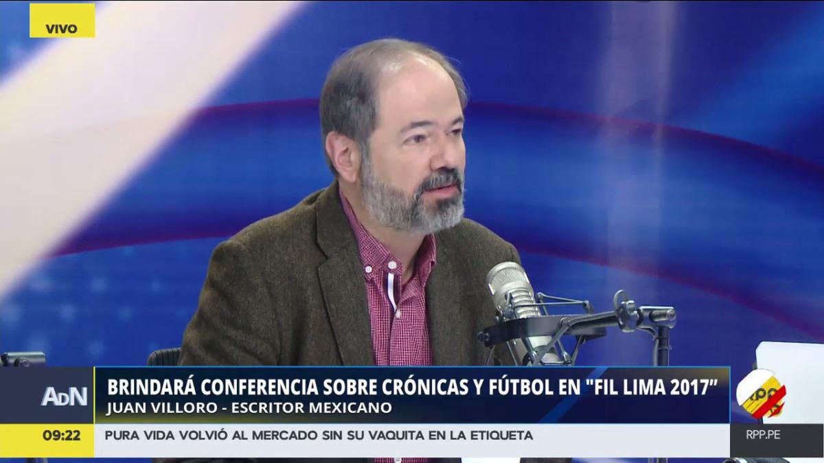 El escritor mexicano visitó los estudios de RPP Noticias para hablar de literatura y su agenda en la FIL Lima 2017.