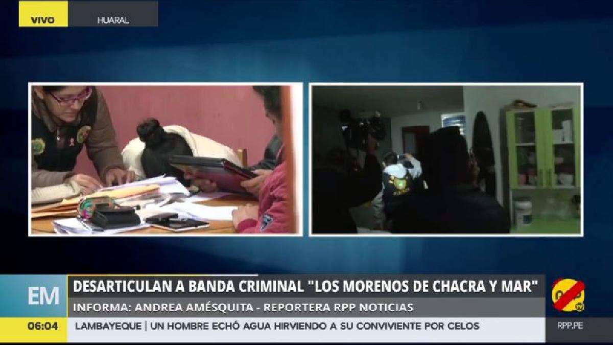 En el megaoperativo, se allanaron 32 viviendas y dos celdas del Penal de Huacho.