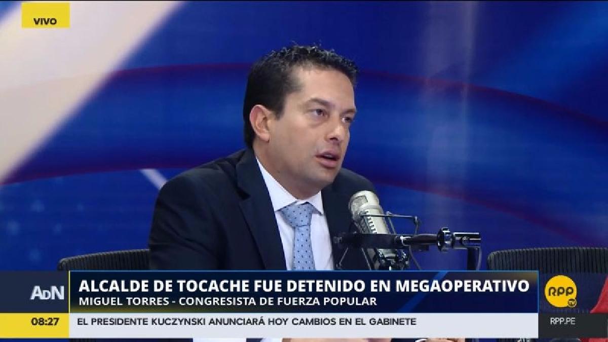 El parlamentario también comentó sobre la elección de candidatos a la alcaldía por parte de Fuerza Popular.