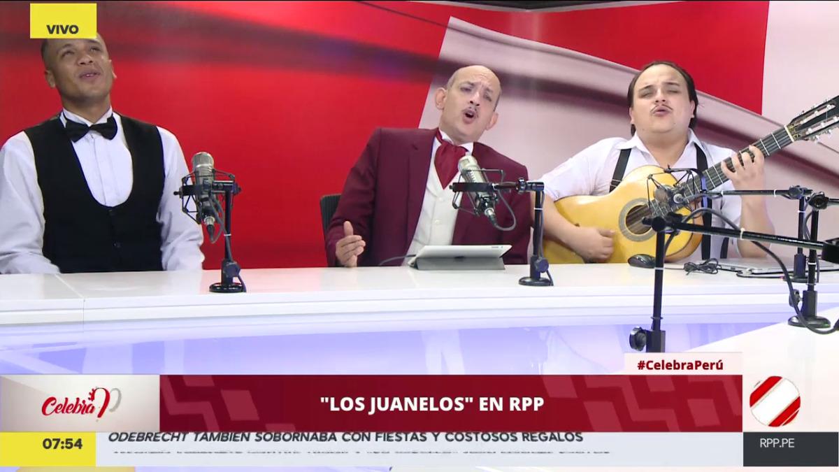 Los Juanelos visitaron RPP Noticias y cantaron sus versiones de Despacito, La polca de Odebrecht, entre otros de sus éxitos