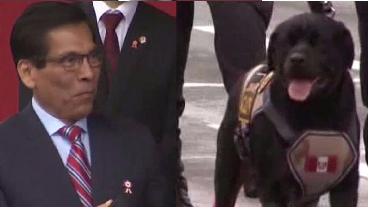 El ministro José Manuel Hernández se mostró feliz al ver a su hijo canino desfilar