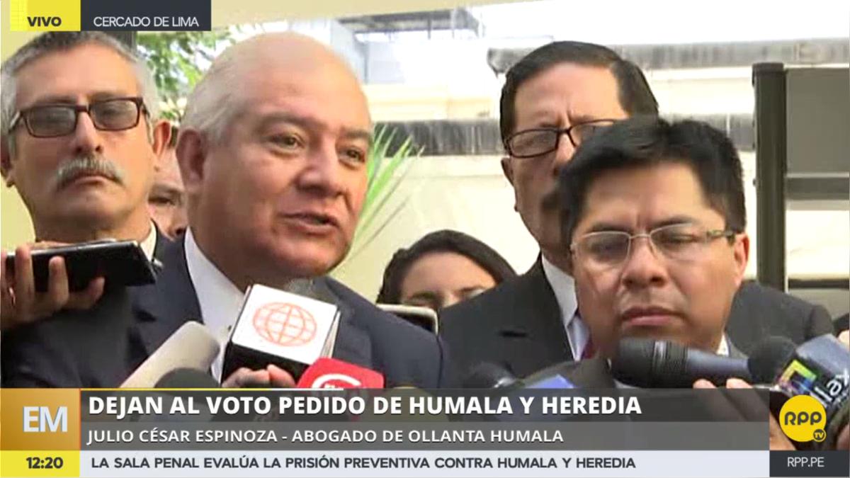Los abogados de Ollanta Humala y Nadine Heredia denunciaron la forma en la que los fiscales están procesando la apelación