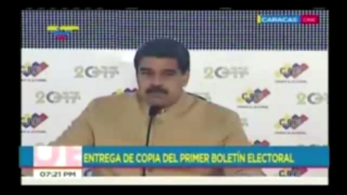 Nicolás Maduro recriminó una vez más a Estados Unidos.