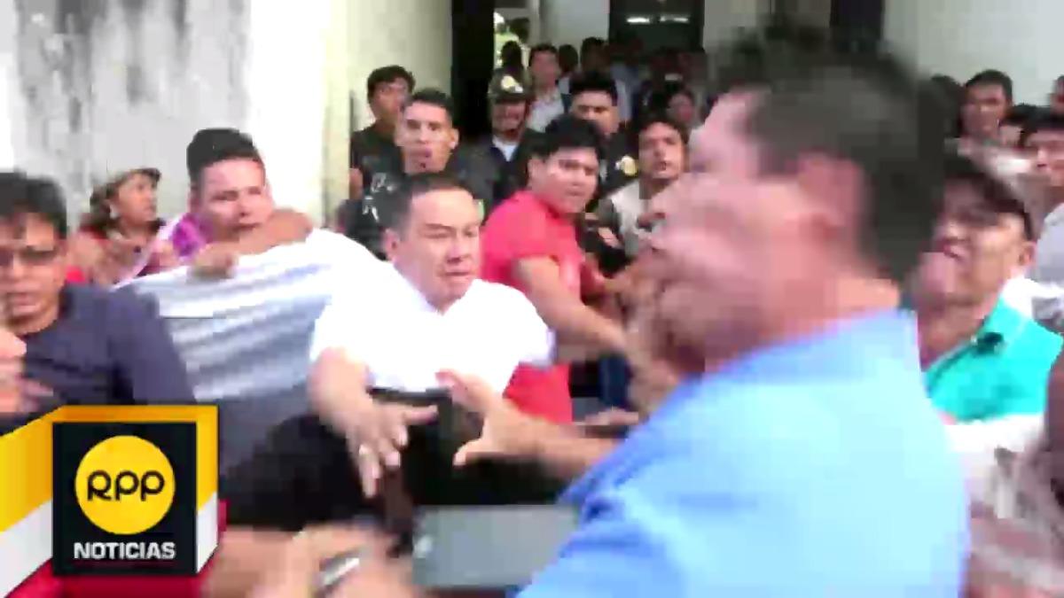 Según comentó el doctor Millones,  el miembro de la Red de Salud del Alto Amazonas, Erkel Fasabi Rodriguez le golpeó durante el enfrentamiento.